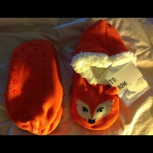 Shoes - Warm & Snuggly Orange Ballerina Slippers One Size